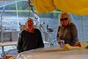 Mary and Dan in the cockpit of Sunchaser, the 40 foot sailboat that is our base for the duration of our stay in the Khuzmatseen Inlet. Dan was one of the people who worked to have the sanctuary created and has been guiding here for 30 years.