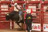 Out of the gates on a Brahma Bull