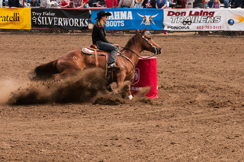 Barrel racing is one of the best events, for pure equine athleticism.