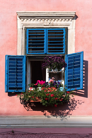 Blue Window Shutters