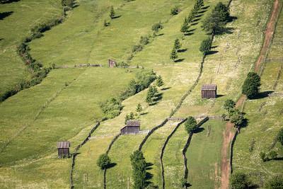 Cabins along the Romanian Hillside