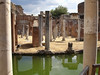 """The villa was constructed at Tibur (modern-day Tivoli) as a retreat from Rome for Roman Emperor Hadrian in the early 2nd century. Hadrian was said to dislike the palace on the Palatine Hill in Rome, leading to the construction of the retreat. This is a photo of his """"office"""" which is surrounded by a moat so he souldn't be surprised by visitors."""