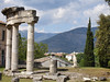 A temple ruins on Hadrian's Villa.