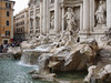 Trevi Fountain is a fountain in the Trevi rione in Rome, Italy. Standing 25.9 meters (85 feet) high and 19.8 meters (65 feet) wide, it is the largest Baroque fountain in the city.