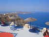 This is the view from the patio of Santos Winery on the island of Santorini.