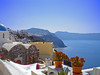 A view from the top of Santorini; the new favorite honeymoon location. As you can see, the views are amazing.