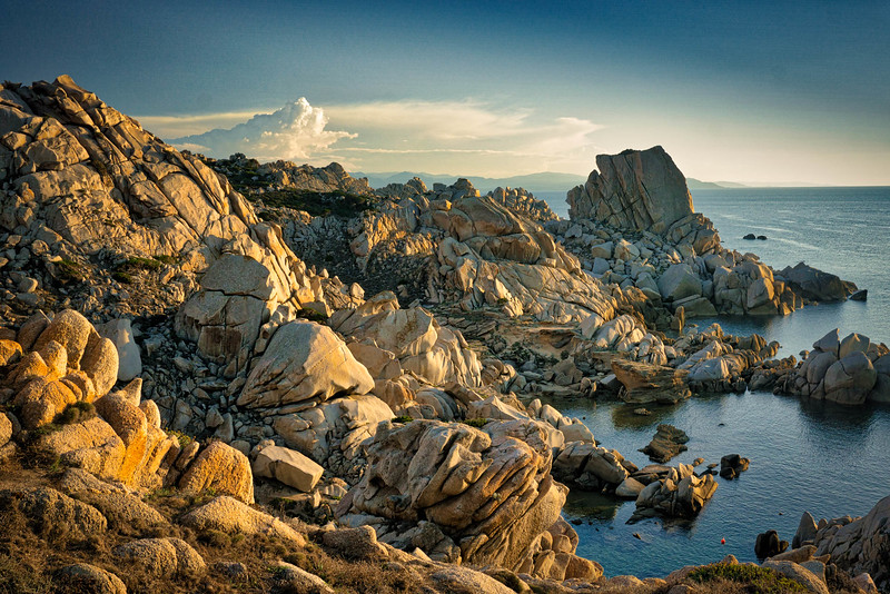 Capo Testa  shortly before sunset