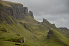 Quiraing, Isle of Sky, Scotland  This is a part of the slip zone of the  northernmost summit of the Trotternish peninsula.