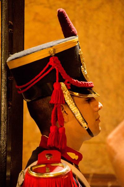 Guard at the San Martin Mausoleum