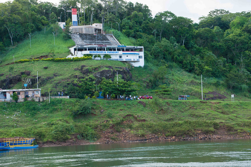 Our quest thereafter was to seek out the quietist part of the boat.<br /> <br /> Less than a k. downstream the Iguazu joins the rather larger Parana which marks the border between Argentina and Paraguay as it flows seaward.
