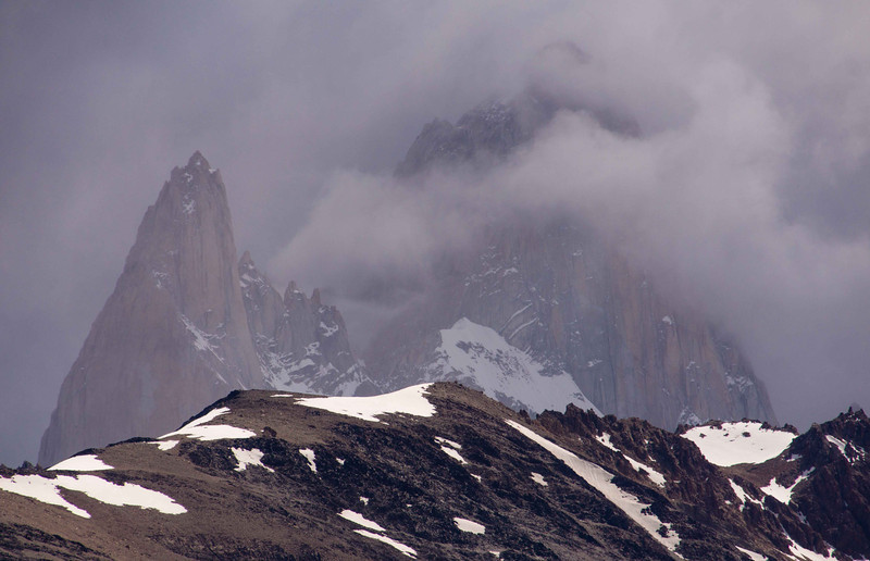 We spent a few days at El Chalten and took several day hikes round Mt Fitzroy. The mountain is magnificent high class rock climbing but notorious for inclement weather.
