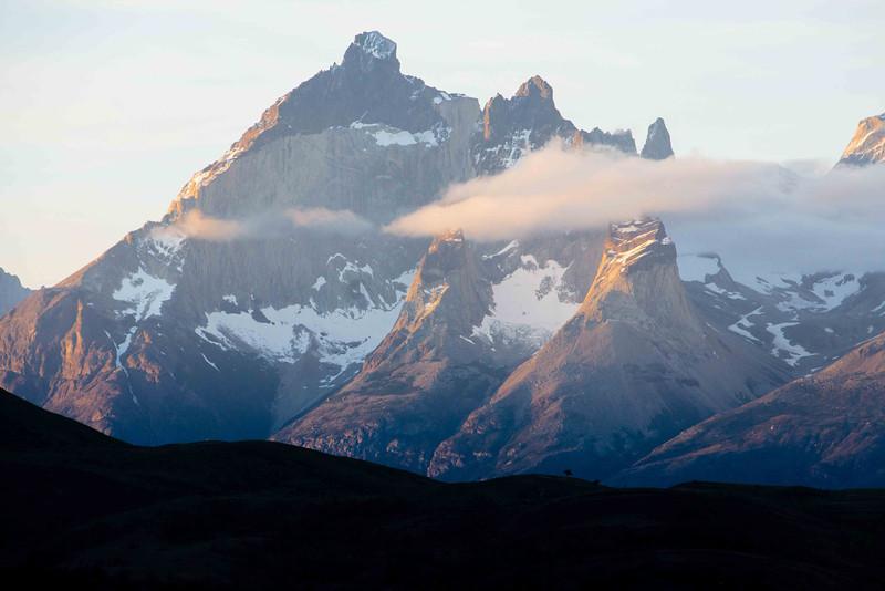 Evening view of Cerro Paine Grande.