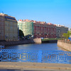 One of the many bridges in St Petersburg,Russia