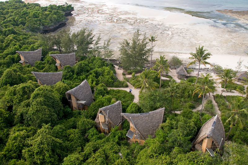 Eco-bungalows at Chumbe.