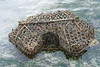 A fish trap lies in shallow waters on the side of Chumbe that is not protected as a marine park,