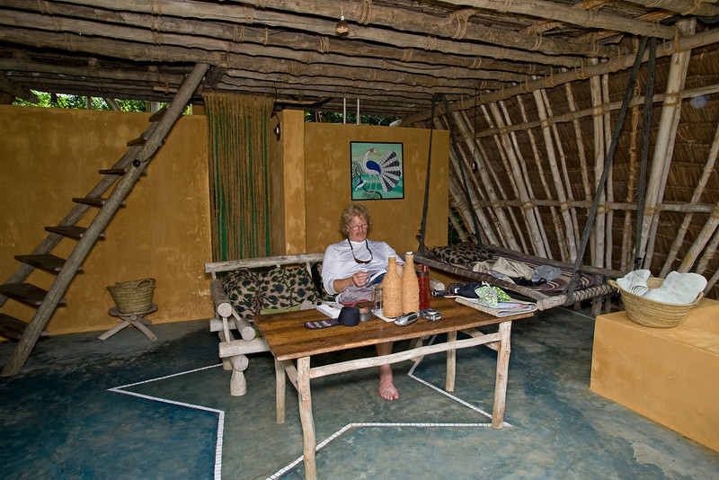 The furniture is made by hand on the island.