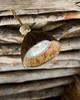Coconut shells form the light fixtures.