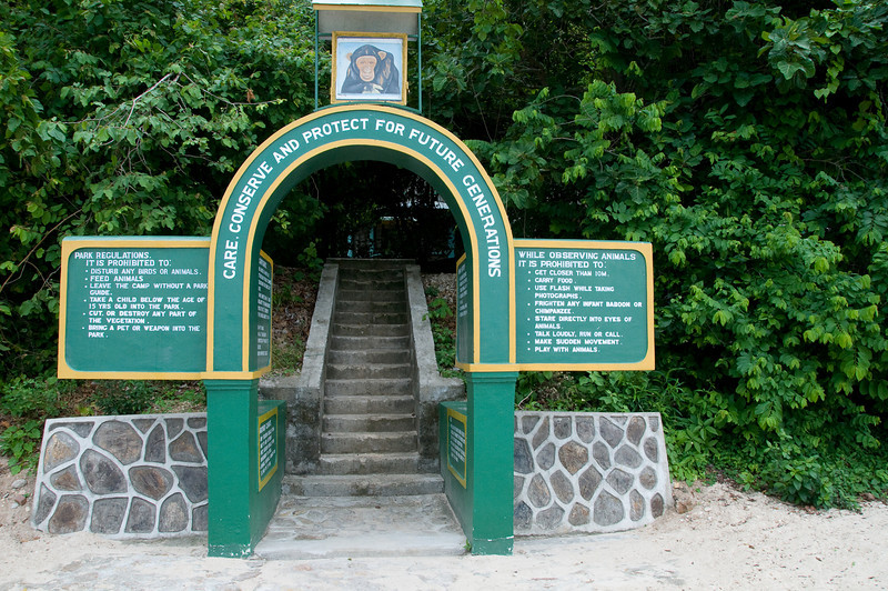 The entrance from the beach to the park.