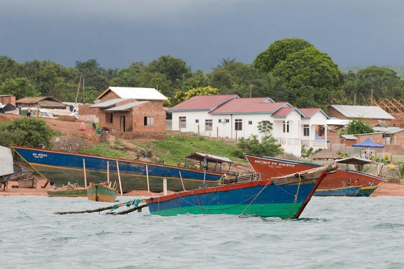 Entering the Kigoma harbor.