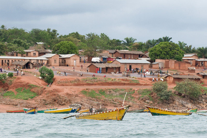 Entering the Kigoma harbor.
