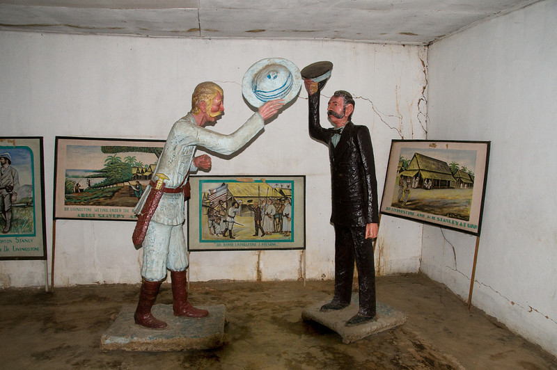Stanley and Livingstone at the Ujiji Livingstone museum.