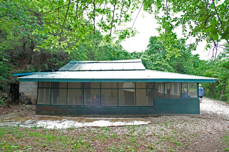 The original rest house at Gombe Stream National Park.