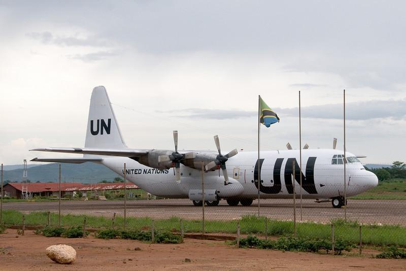 UN relief plane for the Congo at the Kigoma airport.