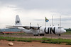 UN relief plane for the Congo at the Kigoma airport.