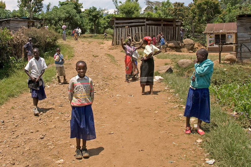 Chagga village at the foot of Kilimanjaro.