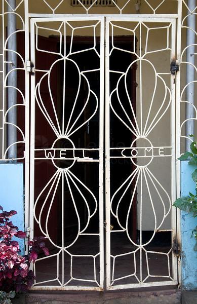 Chagga village door.