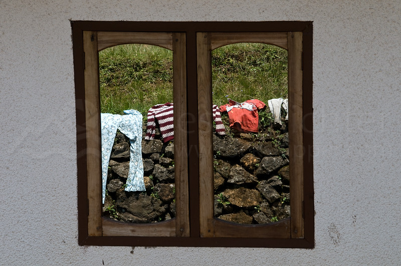 Chagga village window relfections.