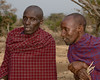 Masai men.  The man on the left is the patriarch of the family.