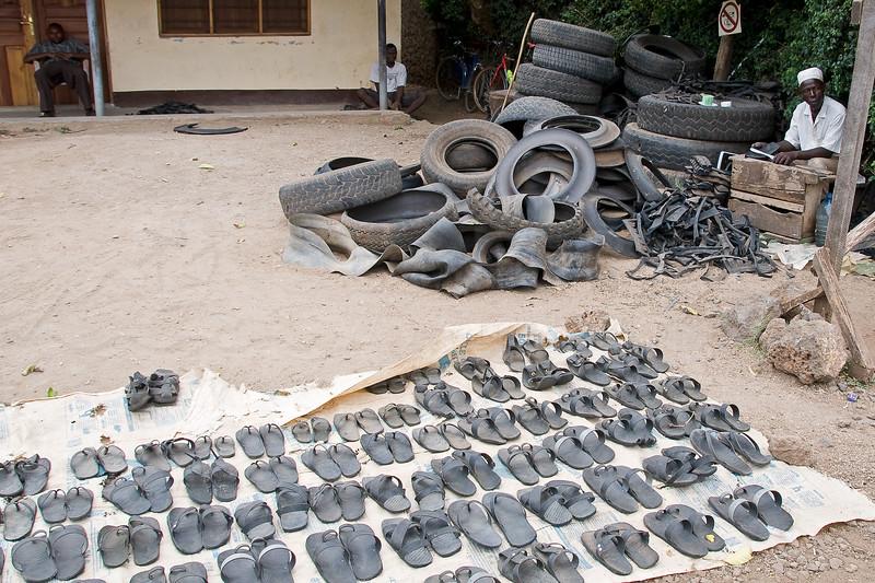 Masai sandals.