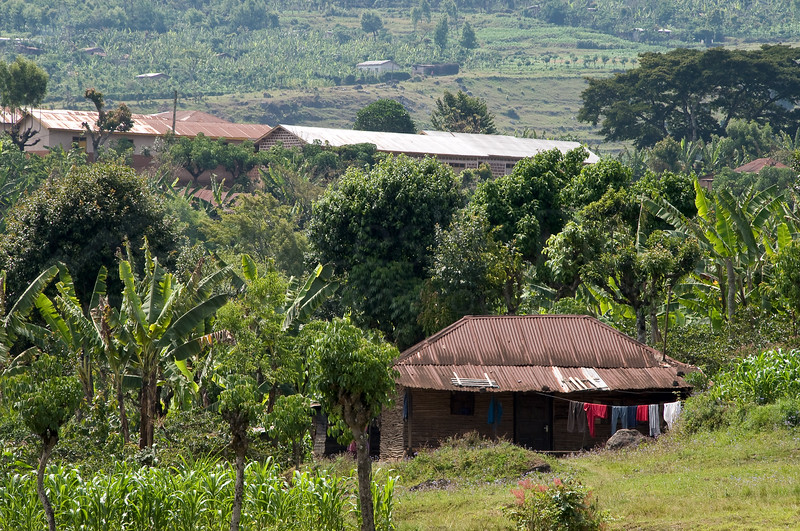 Chagga village.
