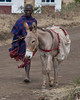 Young Masai and his donkey.