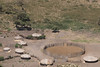 Masai boma. The round pen holds the livestock at night.