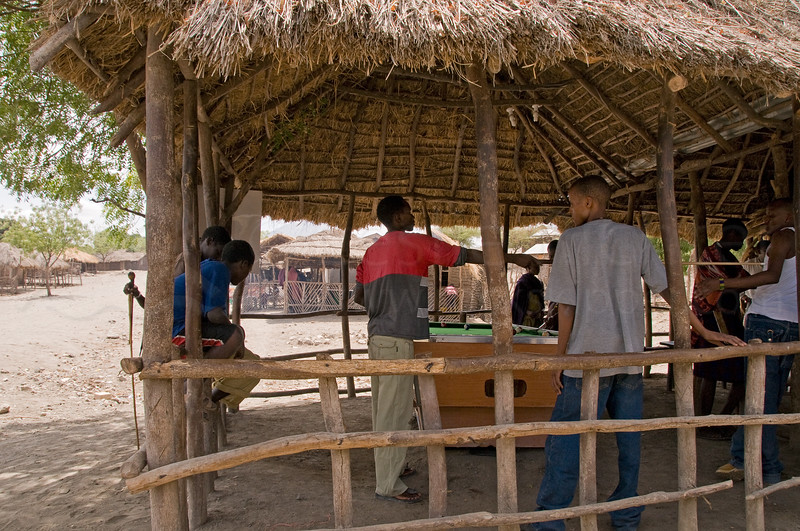 Pool hall in the village near Lake Natron.