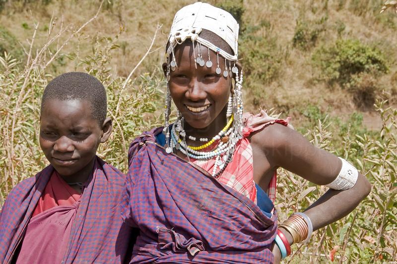 Masai children.