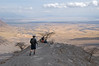 Looking down into the Rift Valley toward Lake Natron.
