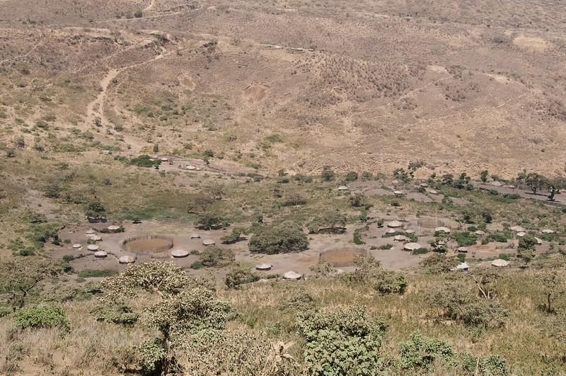 Masai village.