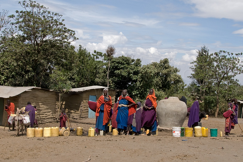 The water distribution area in Nayobi.