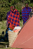 Masai guards at Nainokanoka campsite.
