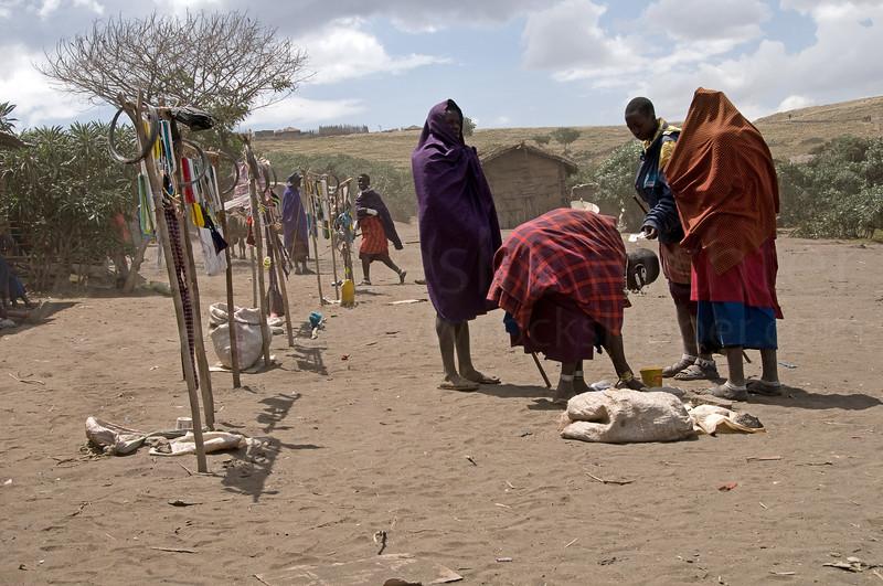 The bead market in Nayobi.