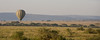 Hot air balloon over the Serengeti.