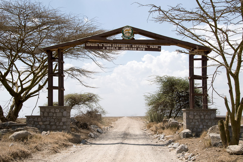 Nabi Gate entrance to Serengeti National Park.
