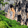 Close up of amazing limestone rocks in Railay beach in Krabi, Thailand.