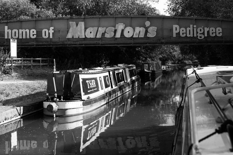 Marstons Bridge Sign Over Trent & Mersey Canal