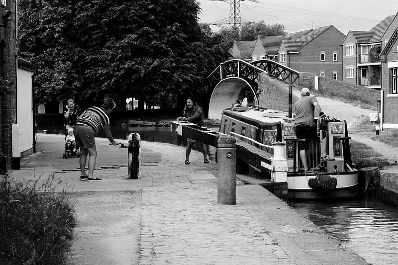 Working The Lock At Hawkesbury
