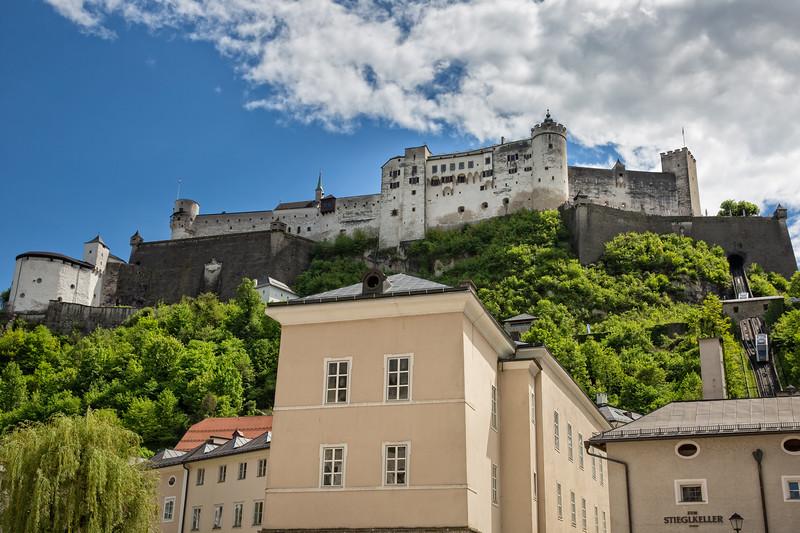Great view on Festung Hohensalzburg