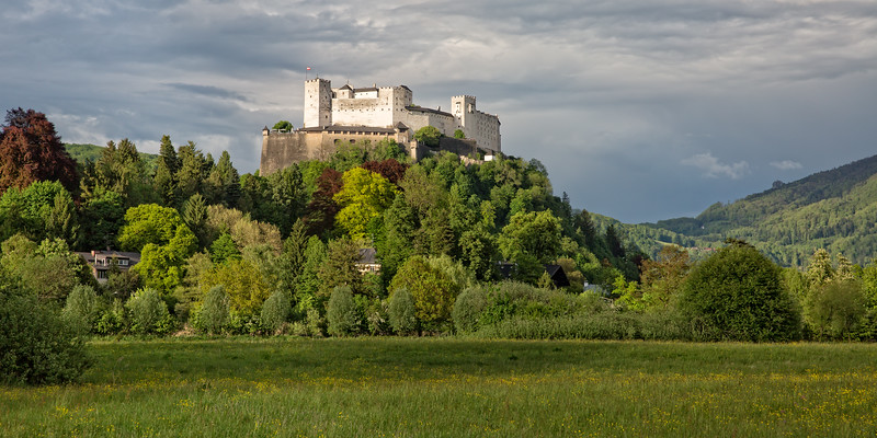 View of south side of the fortress Hohensalzburg